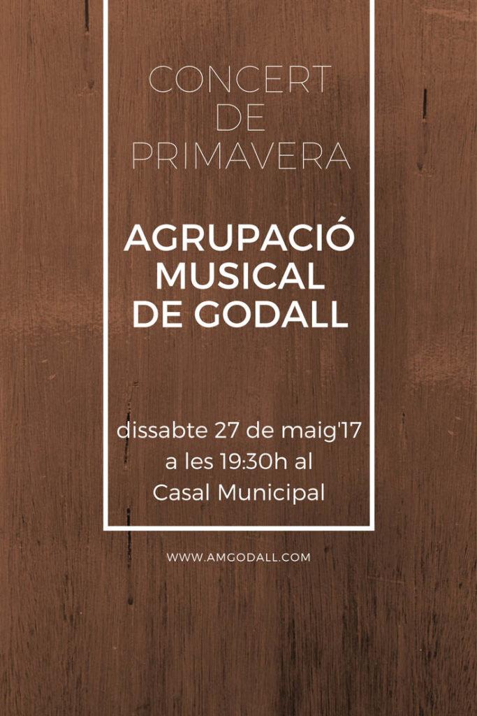 cartell Concert Primavera 2017