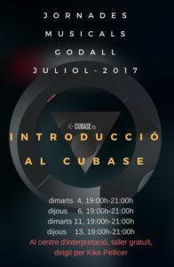 introduccio al cubase - jornades musicals de l'Agrupació Musical de Godall