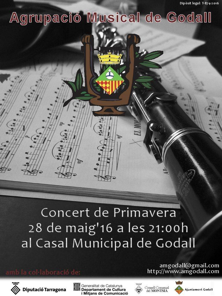 cartell del Concert de primavera de la banda de Godall (Agrupació Musical de Godall)