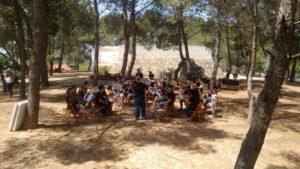 Perspectiva de l'assaig de l'Agrupació Musical de Godall a l'area de medi ambient de Godall