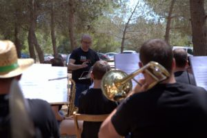 Assaig amb el director Fernando Guarch i Bordes