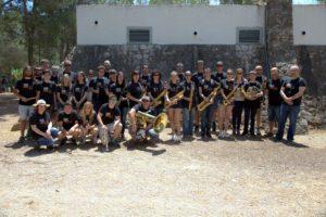 Foto de grup de la banda de música de Godall (Montsià)