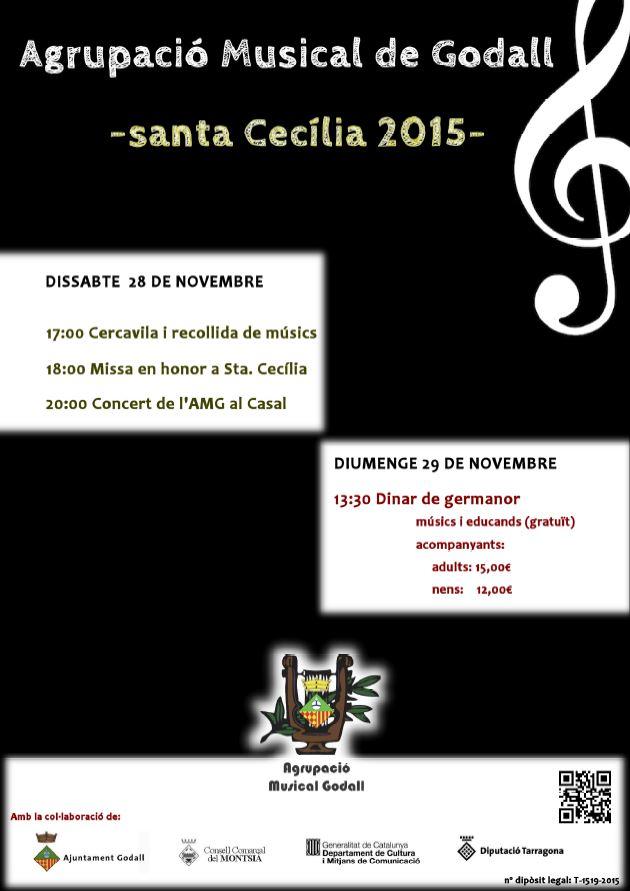 Cartell de Santa Cecilia 2015 de la banda de godall