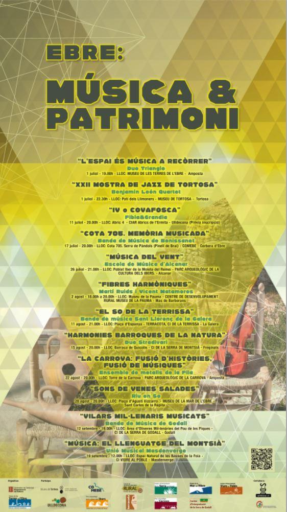 Ebre Musica i patrimoni - Cartell Vilars mil·lenaris musicats - Banda de música de Godall