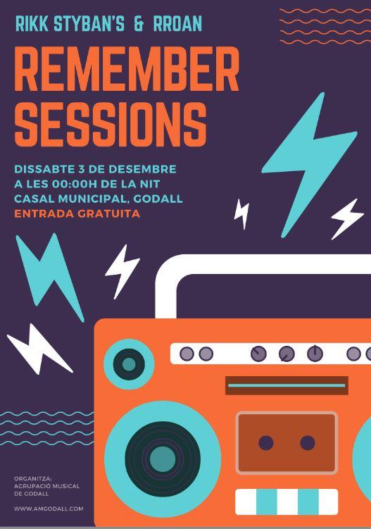 cartell remember sessions rikk styban's & rroan - Santa Cecília 2016 de l'Agrupació Musical de Godall (AMG)
