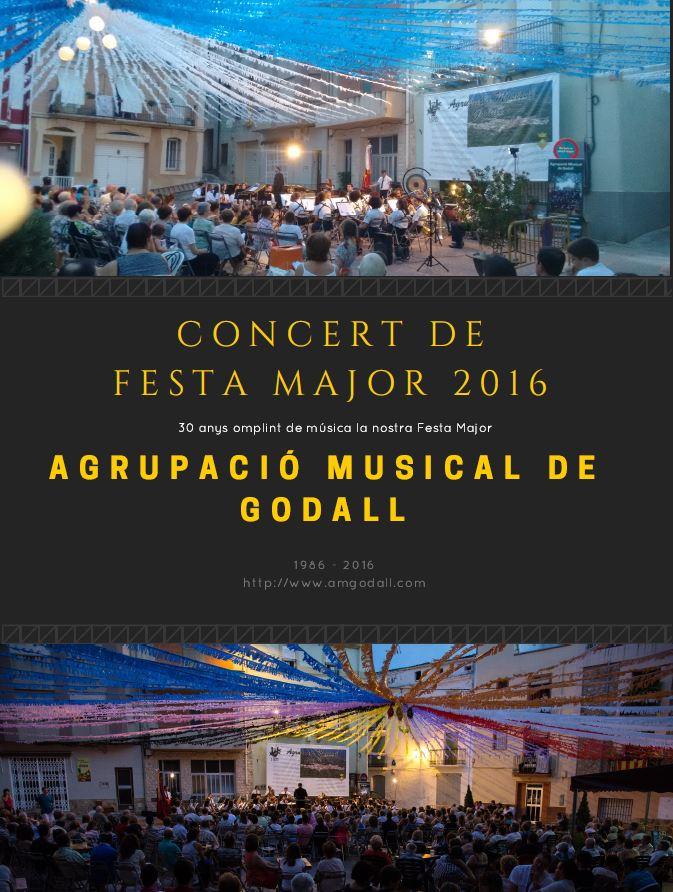 Cartell del concert de festa major 2016 de la banda de Godall