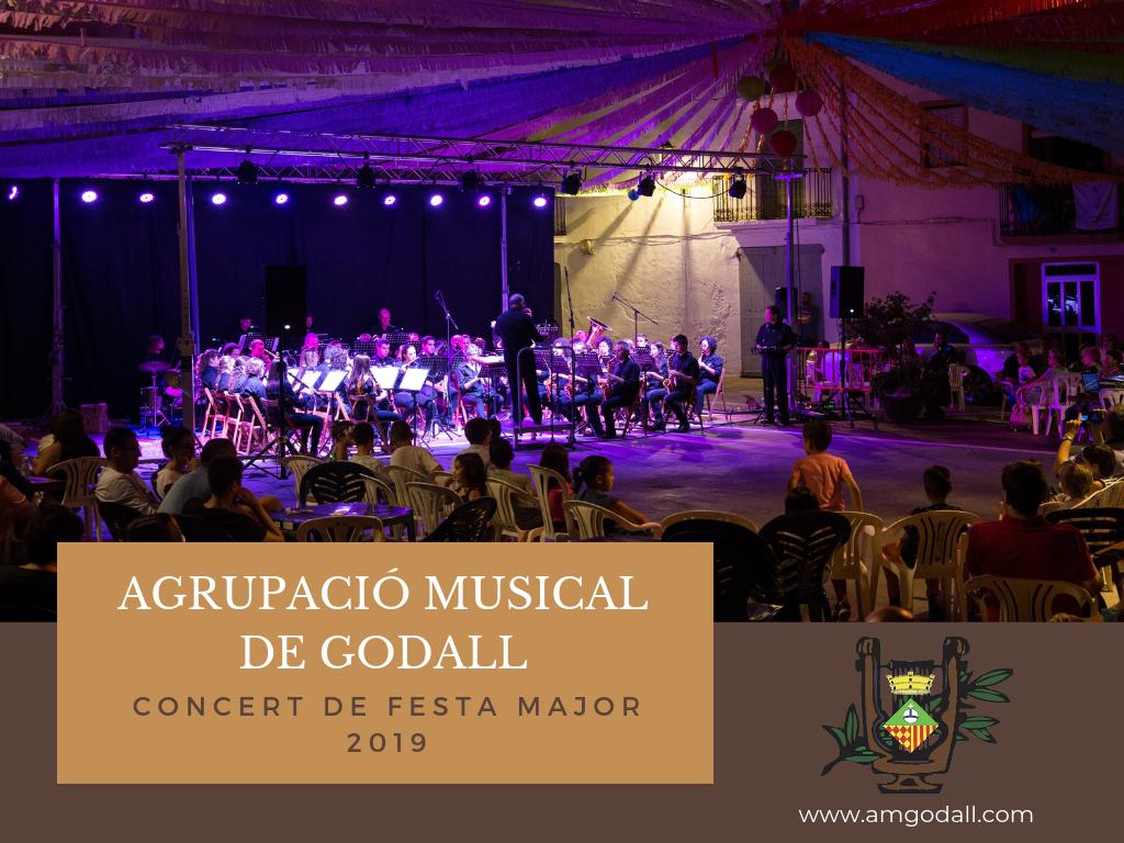 concert de banda de l'Agrupació Musical de Godall dintre de marc de les festes majors de Godall 2019