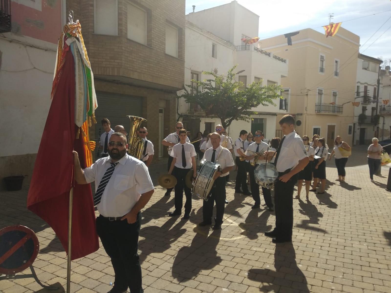 Banda de música de Godall actuant a les festes majors d' Aldover