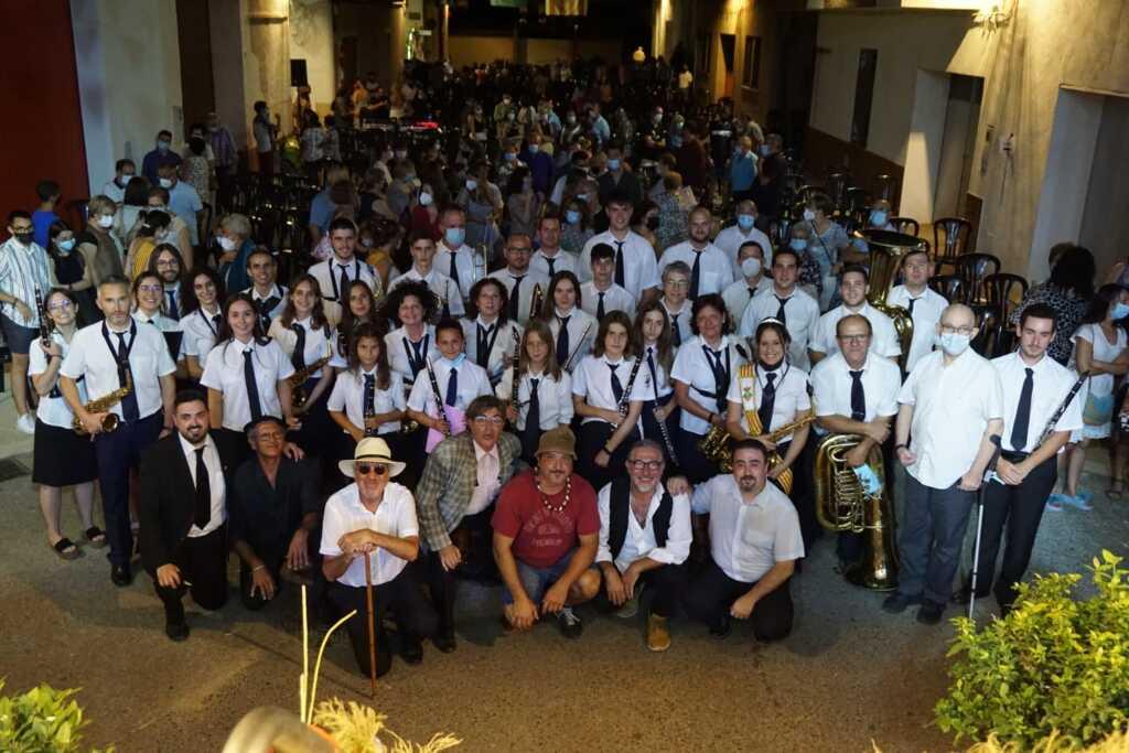 Quico el Célio i l'Agrupació Musical de Godall en el concert de festes majors de Godall 2021